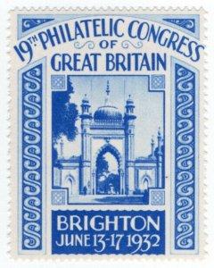 (I.B) Cinderella : 19th Philatelic Congress (Brighton 1932)