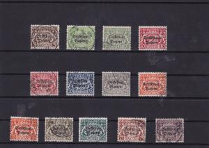 bavaria 1919 officals used stamps cat £100+ ref 7113