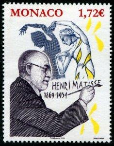 HERRICKSTAMP NEW ISSUES MONACO Sc.# 2985 Henri Matisse