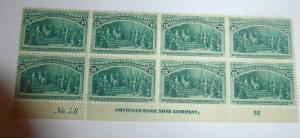 #238 15 cent Columbian plate block