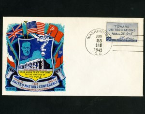 US Stamp #928 Fluegel Cover First Day unaddressed cachet cover