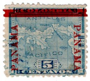 (I.B) Panama Postal : Colombia Overprint 5c