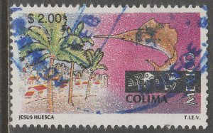MEXICO 1962, $2.00 Tourism Colima, resort, fishing. USED. F-VF. (1488)
