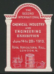 Great Britain, 1913, 2nd Chemical & Engineering Exhibition, London,Poster Stamp