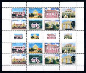 [NAV1578] Netherlands Antilles 2005 Buildings Sheet with Tabs MNH