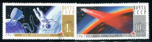 Russia Sc#3316-17  National Cosmonauts' Day  Used VG