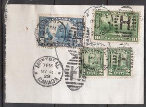 Canada #158 Used On Canvas Part Of Bank Mailing Envelope