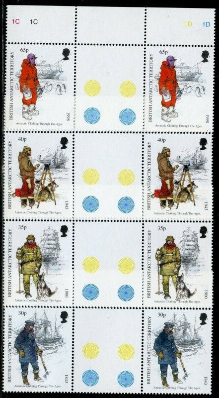 BRITISH ANTARCTIC TERRITORY SCOTT#259/62 GUTTER PAIRS MINT NH-SCOTT VALUE $39.00