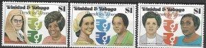 Trinidad & Tobago 337-9  MNH   Decade for Women