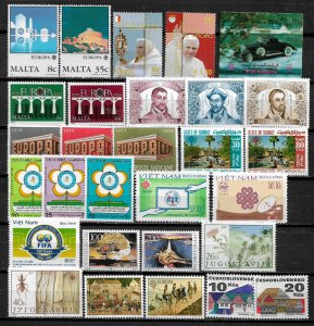 Worldwide Lot of Mint Never Hinged Stamps With Mostly Sets