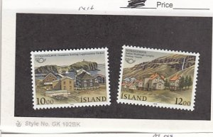 J25783  jlstamps 1986 iceland set mnh #624-5 views checked f/condition