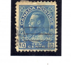 1922 -1925 King George V in Admiral Uniform 10c blue sg 253
