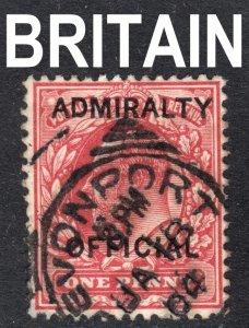 Great Britain Scott O73  F+ used with a splendid SON Devonport cds.