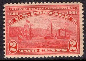 US Stamp #372 2c Hudson-Fulton MINT NH SCV $21