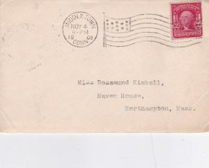 United States 1908 Middletown Conn.to Northampton Mass. cover VGC D