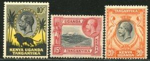 KUT Sc#48-50 SG112-114 1935 KGV Pictorials OG Mint NH