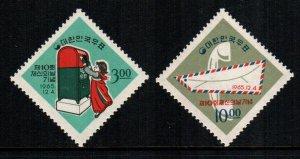 South Korea  487 - 488   MNH $ 9.00