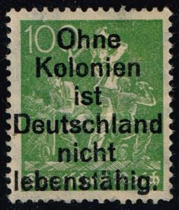 Germany #172 Miners; Unused with Propaganda Overprint