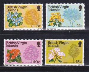 Virgin Islands 338-341 Set MNH Flowers