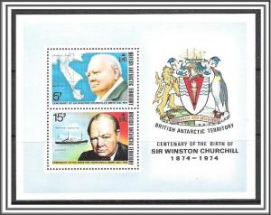 British Antarctic Territory #63a Churchill Souvenir Sheet MNH