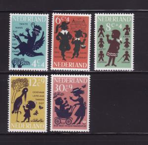 Netherlands B383-B387 Set MNH Nursery Rhymes
