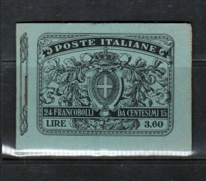 Italy Sassone #2 Very Fine Never Hinged Complete Booklet