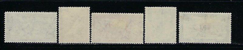 NEW ZEALAND SCOTT #280-284 1953 CORONATION ISSUE - MINT NEVER HINGED/LIGHT