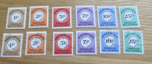 Postage Due 6 Values 1p - 25p Tristan Da Cunha Stamps MNH & Used 1986