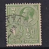 Malta   #132   used   1926  George V  1/2p