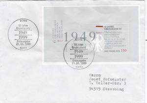 Germany 1999 50th anniversary of German Basic Law Minisheet FDC VGC