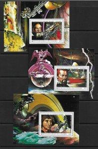 1979   COMOROS  ISLANDS - SG. 293 / 298 - 6 SHEETLETS - SOLAR SYSTEM  -  MNH