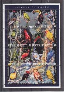 Mali, Scott cat. 716. Birds sheet of 16. ^