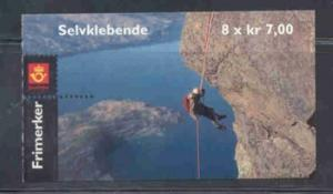 Norway Sc 1295a 2001 Mtn climbing stamp booklet mint NH
