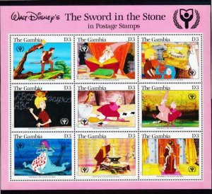Gambia mNH S/S 1059 Disney's The Sword In The Stone 1991