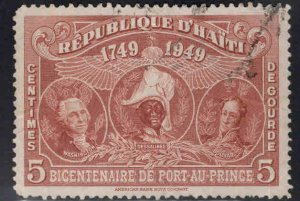 Haiti  Scott RA9 Used  stamp