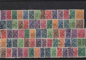 Germany Weimar republic 1918-1930 used Stamps Ref 16035