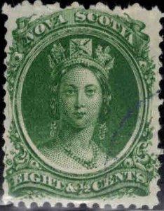 Nova Scotia Scott 11 Used stamp nicely centered CV $30