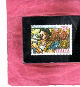 ITALIA REPUBBLICA ITALY REPUBLIC 1991 SCOPERTA DELL´AMERICA MANIFESTAZIONI C...