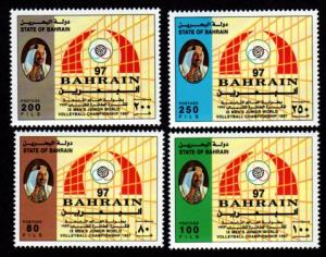 Bahrain 493-496 Mint NH MNH Volleyball Championships!