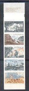 Sweden Sc 1566a 1985 Literature Nobel Prize stamp booklet mint NH