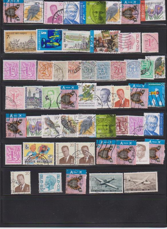 LOT OF DIFFERENT STAMPS OF BELGIUM USED (56) LOT#126
