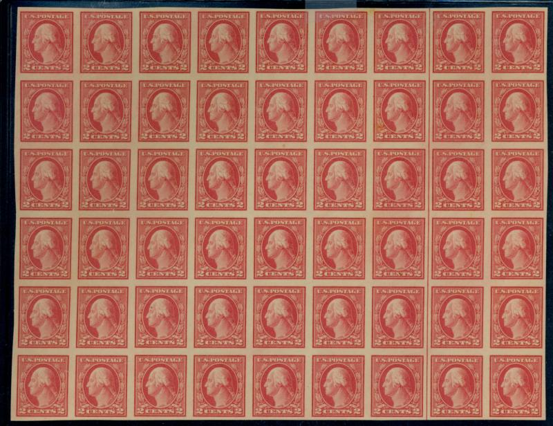 482 MINT Block of 54 VF OG NH Some toning on gum Cat$150+