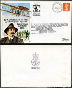 AC32a 80th Ann of the 1st Aeroplane Flight in Britain Standard Cover