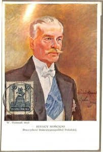 90073 - POLAND - Postal History -  MAXIMUM CARD - IGNACY MOSCICKI Politics