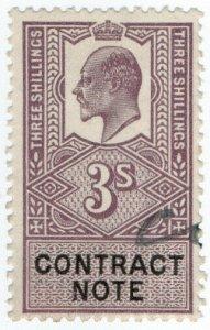 (I.B) Edward VII Revenue : Contract Note 3/-