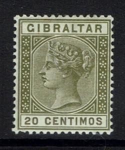 Gibraltar SG# 24, Mint Hinged, Minor Gum Crease -  Lot 112916