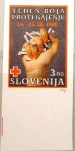 Slovenia MNH RA3 Red Cross Stop Smoking 1992