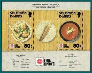Solomon Islands 1991 Tuna Fishing, Phila Nippon, MS MNH #707,SGMS712