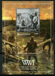 Togo Military Stamps 2014 MNH WWI WW1 First World War I 100th Anniv 2v S/S II