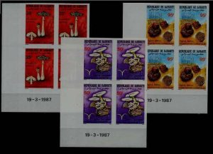 Djibouti 625-27 MNH imperf.bl. of 4 Mushrooms